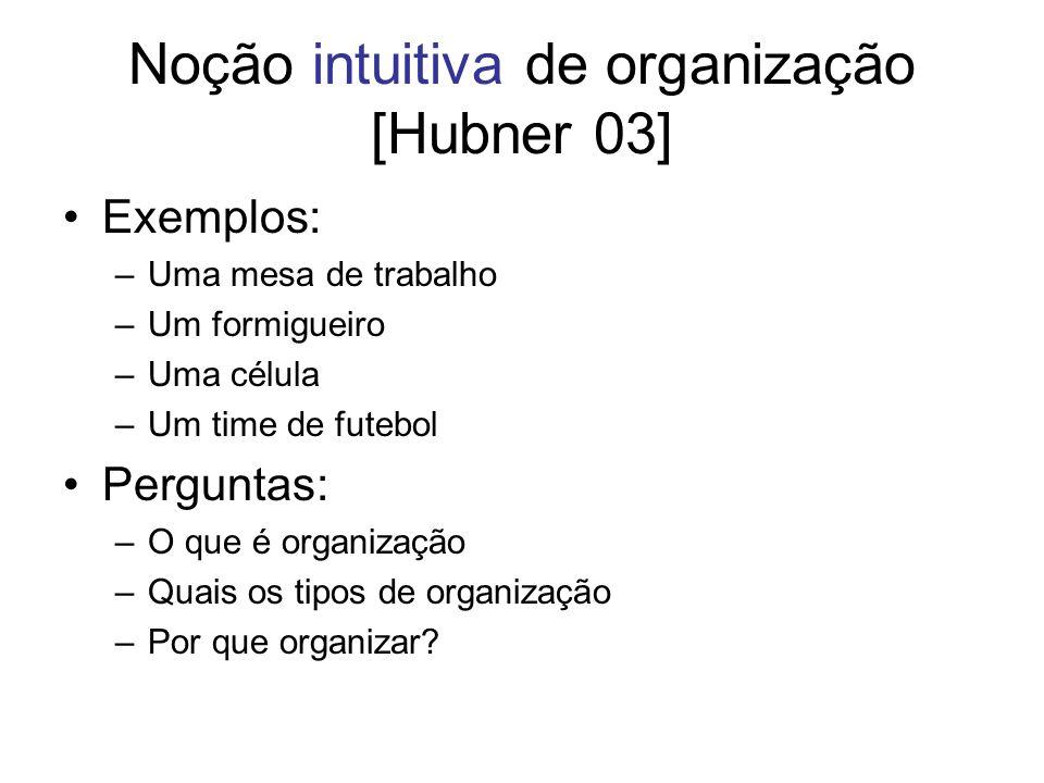 Noção intuitiva de organização [Hubner 03]
